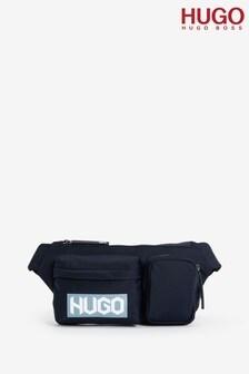 HUGO藍色Record腰包