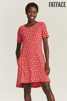 FatFace Red Simone Daisy Dress