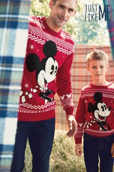 Pulover Matching Family Mens Christmas Mickey Mouse™