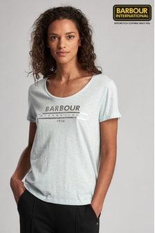 Barbour® International Fullcourt T-Shirt mit Metallic-Logo