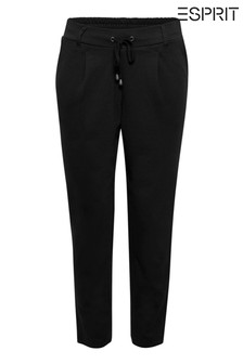 Esprit Black Stretch Pants In Jogger Style