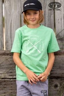 Animal Waveride T-Shirt mit Grafik, Grün