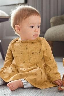 """Платье с рисунком """"жираф"""" и леггинсы (0 мес. - 3 лет)"""