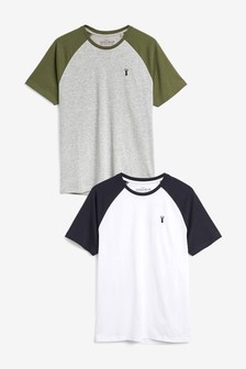 Raglan Sleeve T-Shirts Two Pack