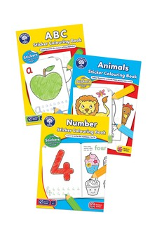 Orchard Toys Counting, Letters & Animal Sticker Colouring Book Set