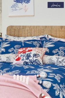 Set of 2 Joules Blue Crayon Housewife Pillowcases