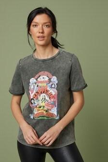 T-Shirt mit Ziernaht
