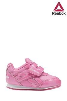حذاء رياضي وردي طباعة بحزام لاصق للأطفال الصغارJogger منReebok
