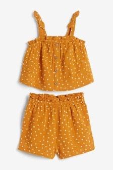 Комбинируемый комплект: блузка и шорты (3 мес.-7 лет)