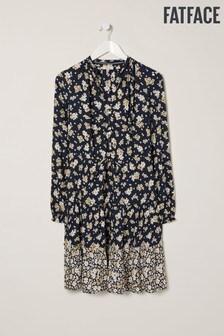 FatFace Arianna Sommerkleid mit Gänseblümchen, blau