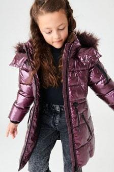 Блестящая дутая куртка (3-16 лет)