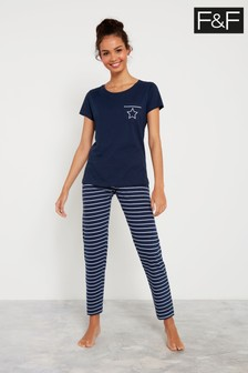 F&F Navy Stripe Pyjamas