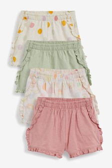 4 Pack Organic Cotton Shorts (3mths-7yrs)