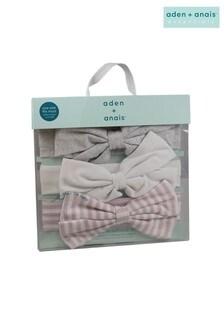aden + anais Stirnbänder mit Streifen, 3er-Pack, Pink