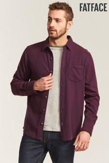 FatFace Purple Brushed Twill Shirt