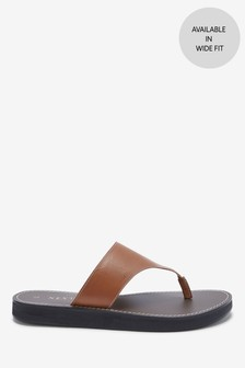 Platform Toe Post Mules