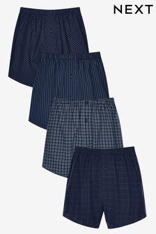 Набор текстильных трусов-боксеров с рисунком из 100% хлопка (4 шт.)