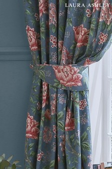 Set of 2 Laura Ashley Tapestry Floral Tie Backs