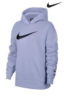 Лавандовая свободная толстовка с логотипом Nike