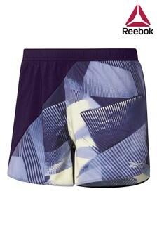 מכנסיים קצרים עם הדפס של Reebok בסגול