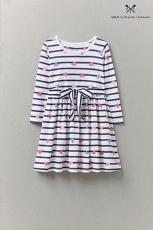 Crew Clothing Company Langärmeliges Kleid mit Streifen, Herzmotiv und Bindeband