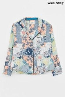 White Stuff Coral Skylar Woven PJ Shirt