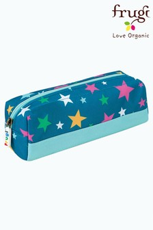 Frugi Blue Recycled Star Print Pencil Case