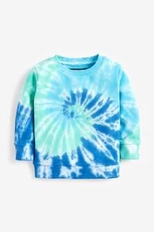 Tie-dye sweater met ronde hals (3 mnd-7 jr)