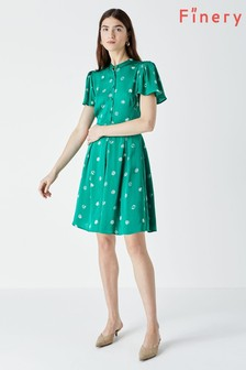 Finery Green Cheniston Print Mini Dress