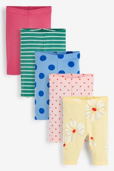 5 Pack Print Cropped Leggings (3mths-7yrs)