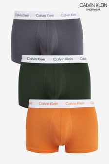 Calvin Klein Orange Cotton Stretch Low Rise Trunks Three Pack