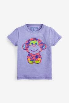 Tričko s krátkymi rukávmi s opicou (3 mes. – 7 rok.)