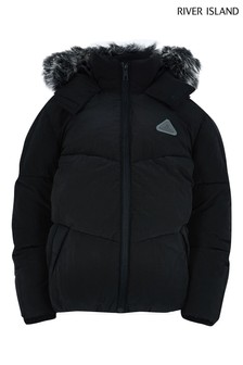 River Island Black Padded Jacket