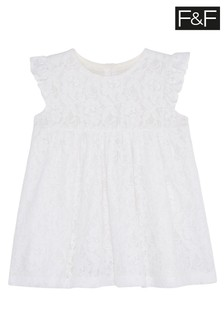 F&F White Lace Occasion Dress