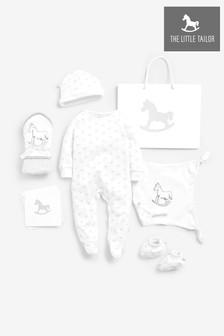 Coffret cadeau avec dors-bien, bonnet et chaussons The Little Tailor blancs