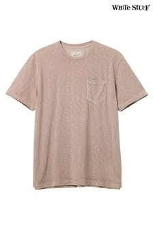 White Stuff Pflanzlich gefärbtes T-Shirt mit Tasche, Rosa