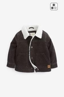 Вельветовая куртка на подкладке из искусственного меха (3 мес.-7 лет)