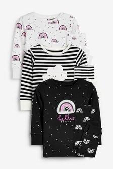 Уютные пижамы с рисунком радуги, 3 шт. (9 мес. - 12 лет)