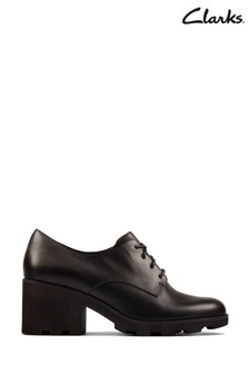 Clarks Black Leather Rene Lace Shoes