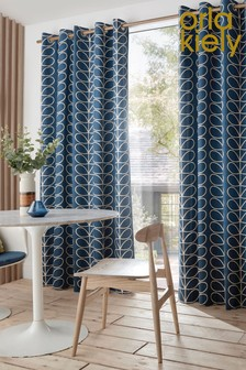Orla Kiely Linear Stem Eyelet Curtains