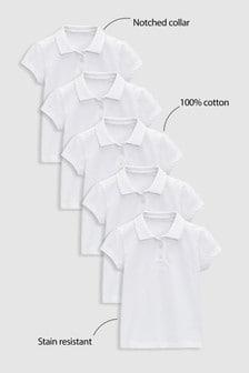 Набор из пяти рубашек поло (3-16 лет)