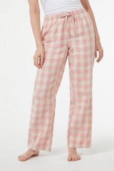 Pantaloni de pijama din flanel de bumbac