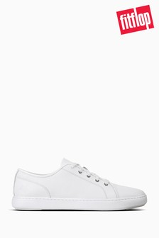 FitFlop™ White Christophe Leather Sneakers