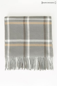 Warehouse Grey Check Scarf