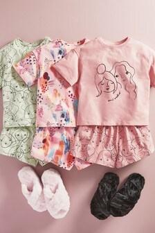 Kurze Pyjamas mit Gesichtsprint,3er-Pack (3-16yrs)