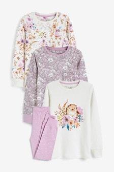 Kuschelige Pyjamas aus Baumwolle, 3er-Pack (9Monate bis 8Jahre)
