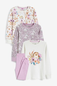3 Pack Cotton Snuggle Pyjamas (9mths-8yrs)