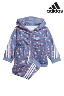 adidas Purple Infant All Over Print Tracksuit