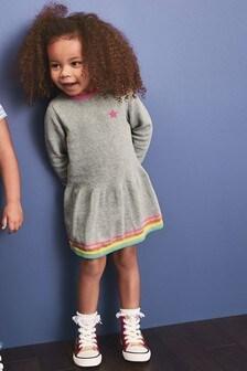 Peplum Pulloverkleid mit Zierstreifen (3Monate bis 7Jahre)