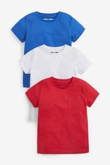 Набор из 3 однотонных футболок (3 мес.-7 лет)